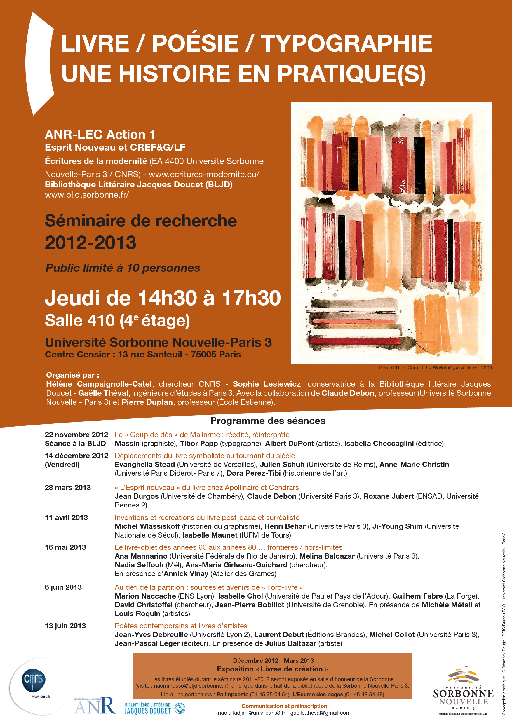 rencontres doctorales paris diderot